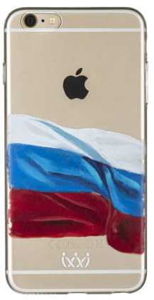 Клип-кейс VLP для Apple iPhone 6 Plus/6S Plus Флаг (прозрачный)